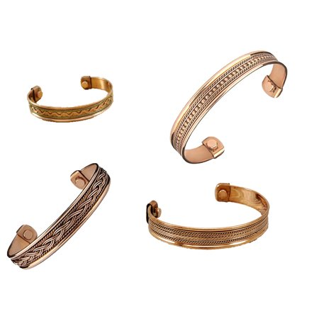 Magnetic Copper Healing Bangle Gold Rose Bracelet Assorted 1PC