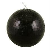 "Northlight  12"" Huge Jet Mirrored Glass Disco Ball Christmas Ornament - Black"