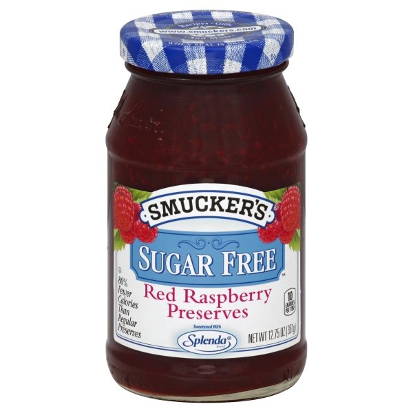 (2 Pack) Smucker's Sugar Free Light Red Raspberry Preserves, 12.75-Ounce
