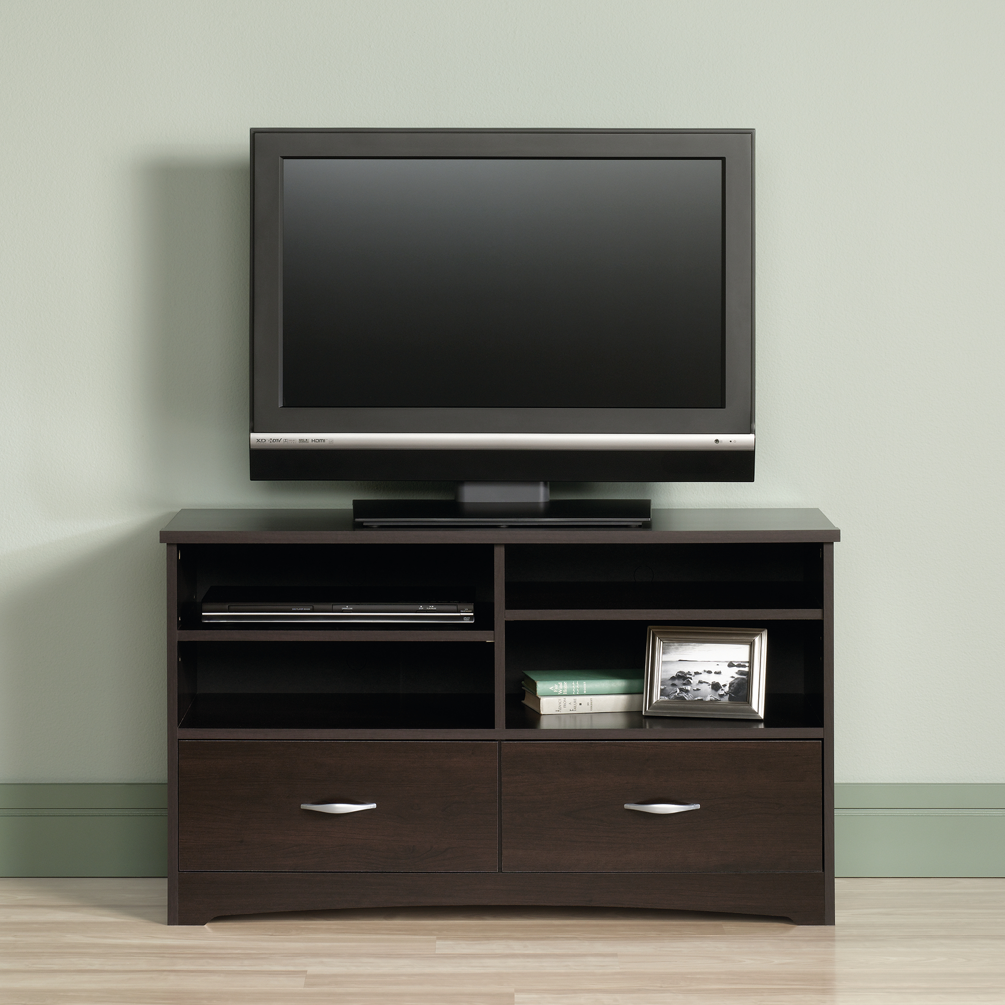 Sauder Beginnings Tv Stand For Tvs Up To 46 Cinnamon Cherry Finish