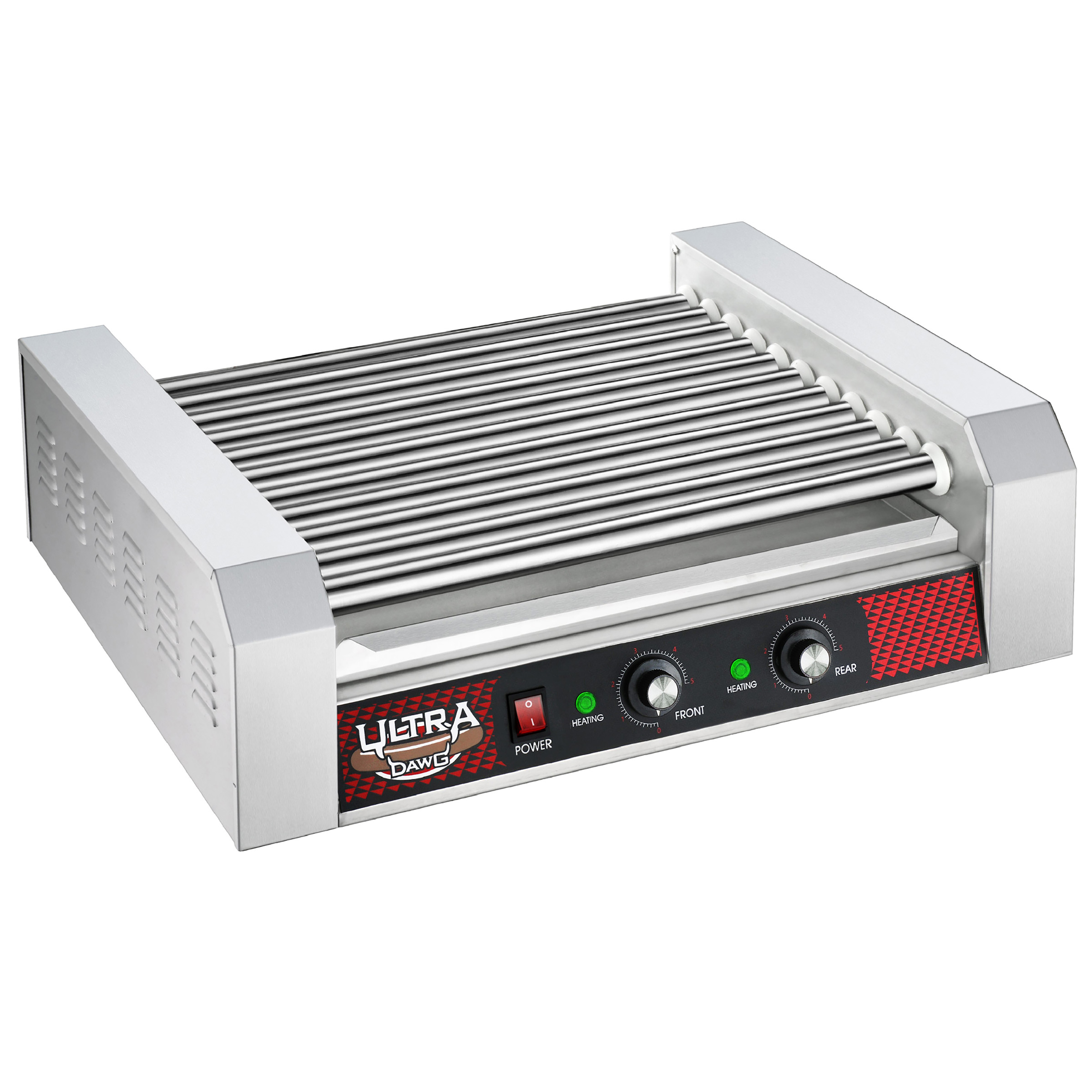 Commercial 30 Hot Dog 11 Roller Grilling Machine 1650W by Great Northen Popcorn