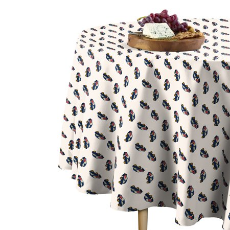Fabric Textile Products Blue Cars Toss Tablecloth 108