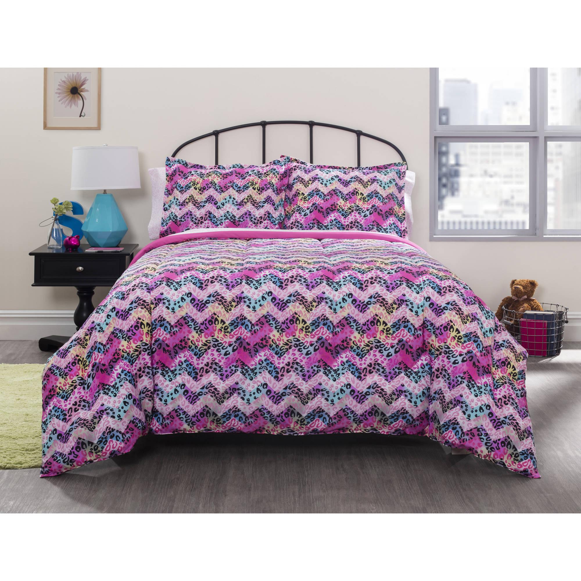 Idea Nuova your zone cheetah chevron bed in a bag bedding set