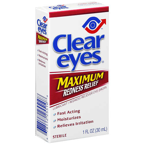 Clear Eyes Maximum Redness Relief Lubricant/Redness Reliever Eye Drops, 1 fl oz