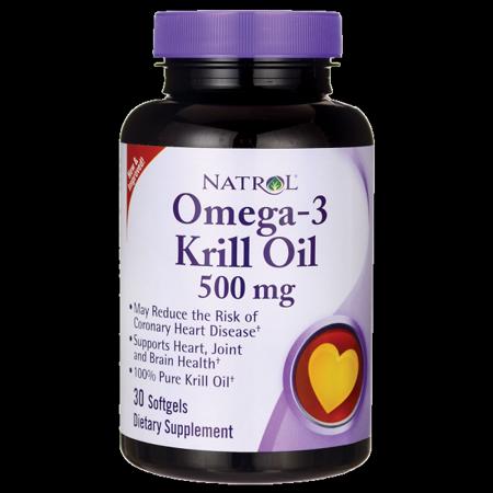 Natrol Odorless Omega 3 Krill Oil 500Mg Softgels  30 Ct