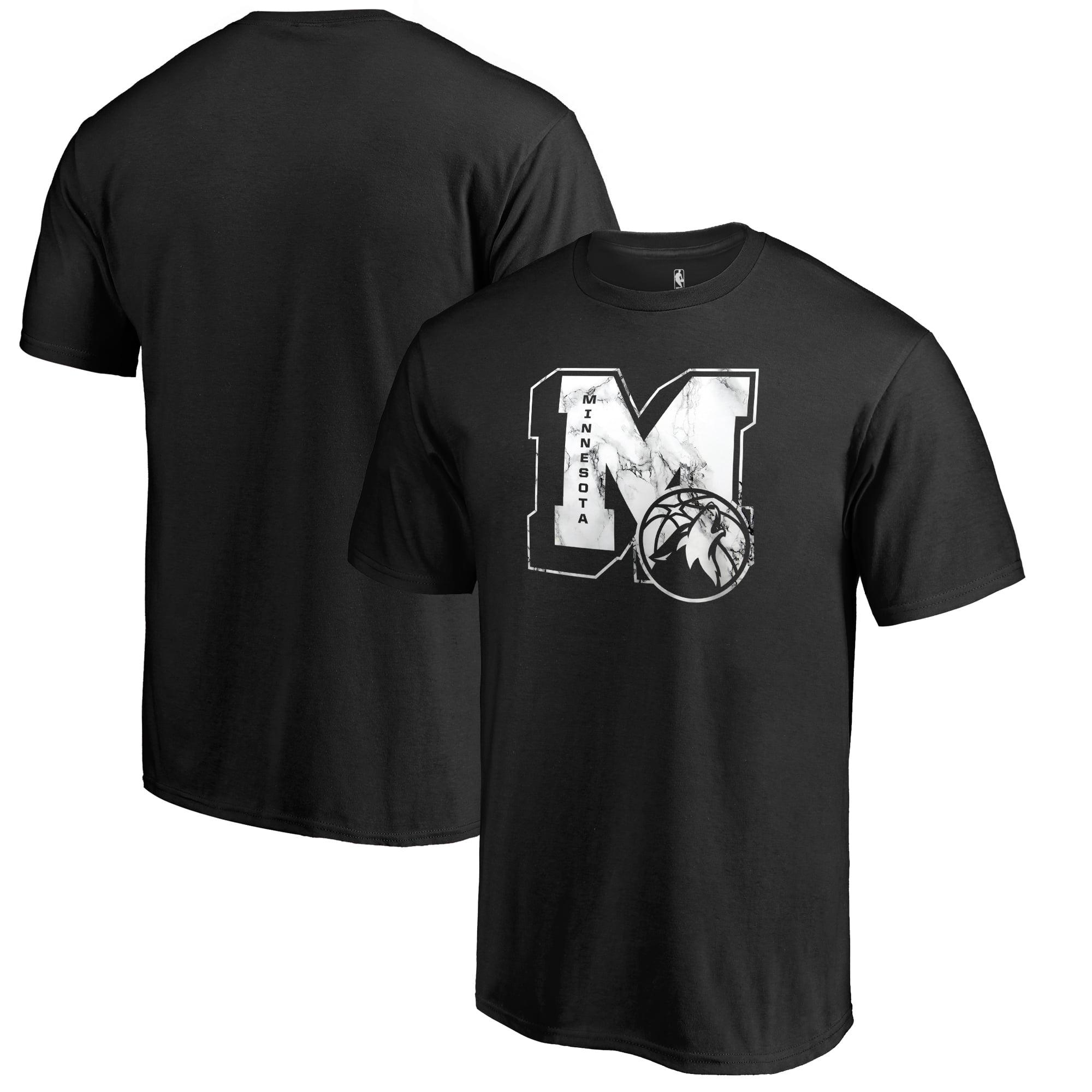 Minnesota Timberwolves Fanatics Branded Letterman T-Shirt - Black