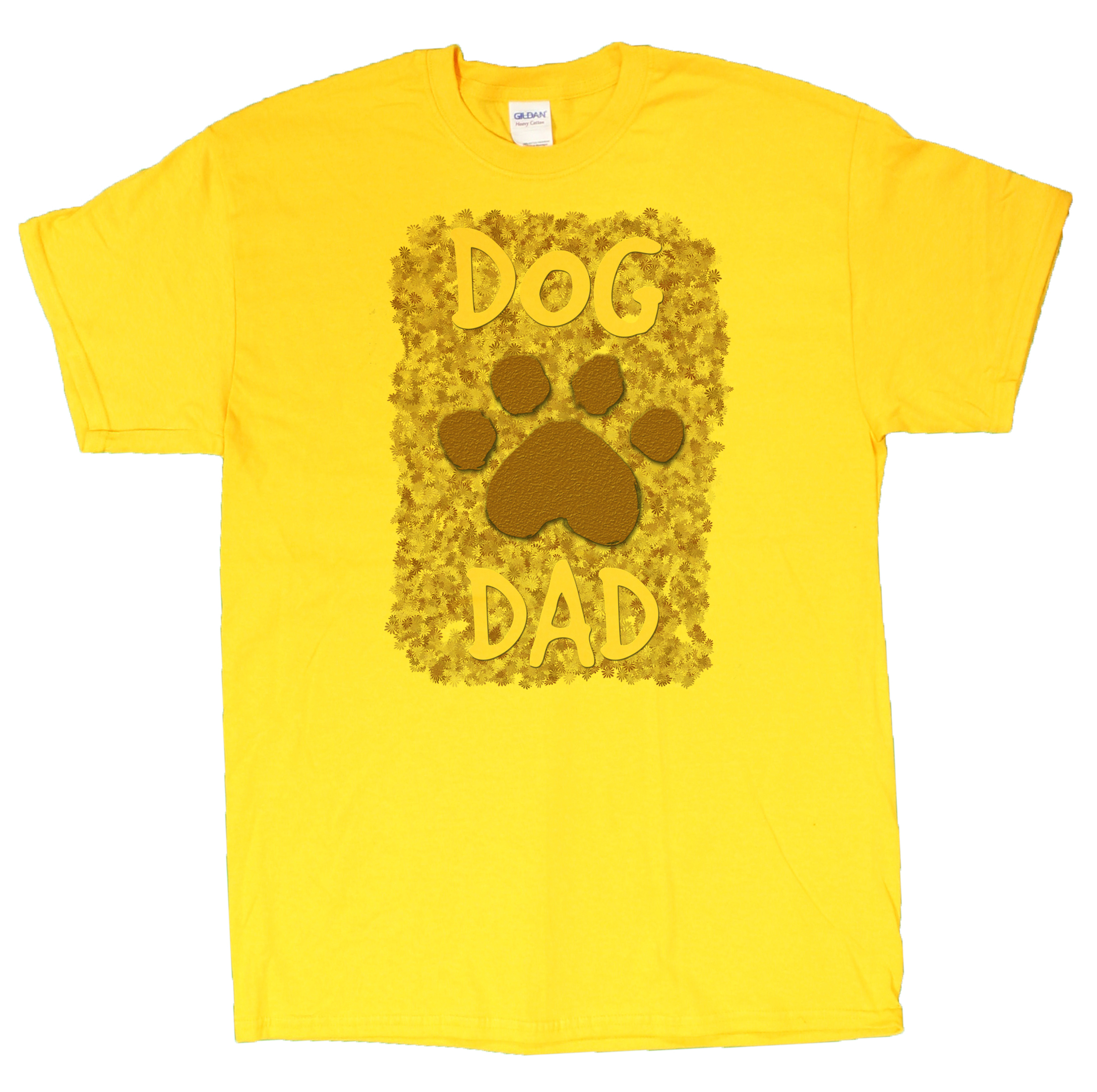 Men's Dog Lovers Dog Dad With Paw Print T-Shirt