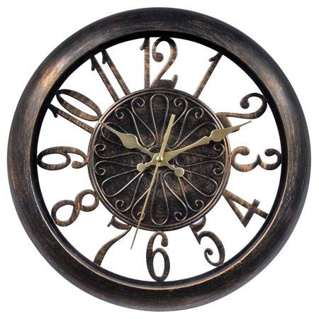 75113 Open-Frame Antiqued Wall Clock, 14