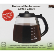 Café Brew Glass 12 Cup Universal Replacement Coffee Carafe 1 Each