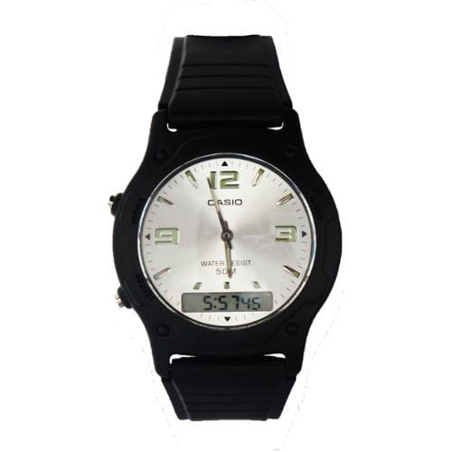 Casio AW49HE-7AV Casual Classic Men's Analog & Digital Dual Time Watch - Silver