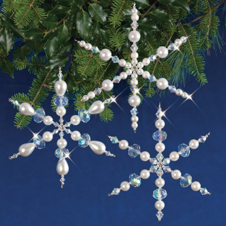 Holiday Beaded Ornament KitSparkling Snowflakes Makes - Beaded Snowflakes