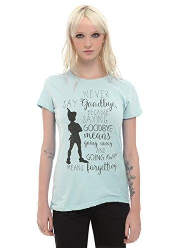 Disney Peter Pan No Goodbye Girls T-Shirt