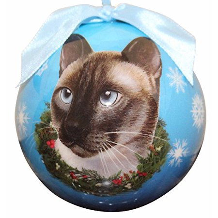 Siamese Cat Christmas Ornament Shatter Proof Ball Easy To Personalize A Perfect Gift For Siamese Cat Lovers ()