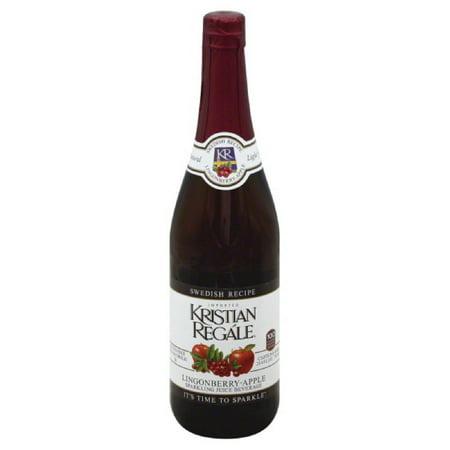 Kristian Regale Lingonberry-Apple Swedish Recipe Sparkling Juice Beverage, 25.4 Fo (Pack of 12) (Sparkling Lemonade Recipe)