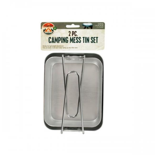 """Camping Mess Tin Set 2 PC  Set  1-6.25/"""" x 5.25/""""   1-7/"""" x 5.5/"""""""