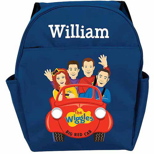 Personalized The Wiggles Big Red Car Toddlers' Blue Backpack