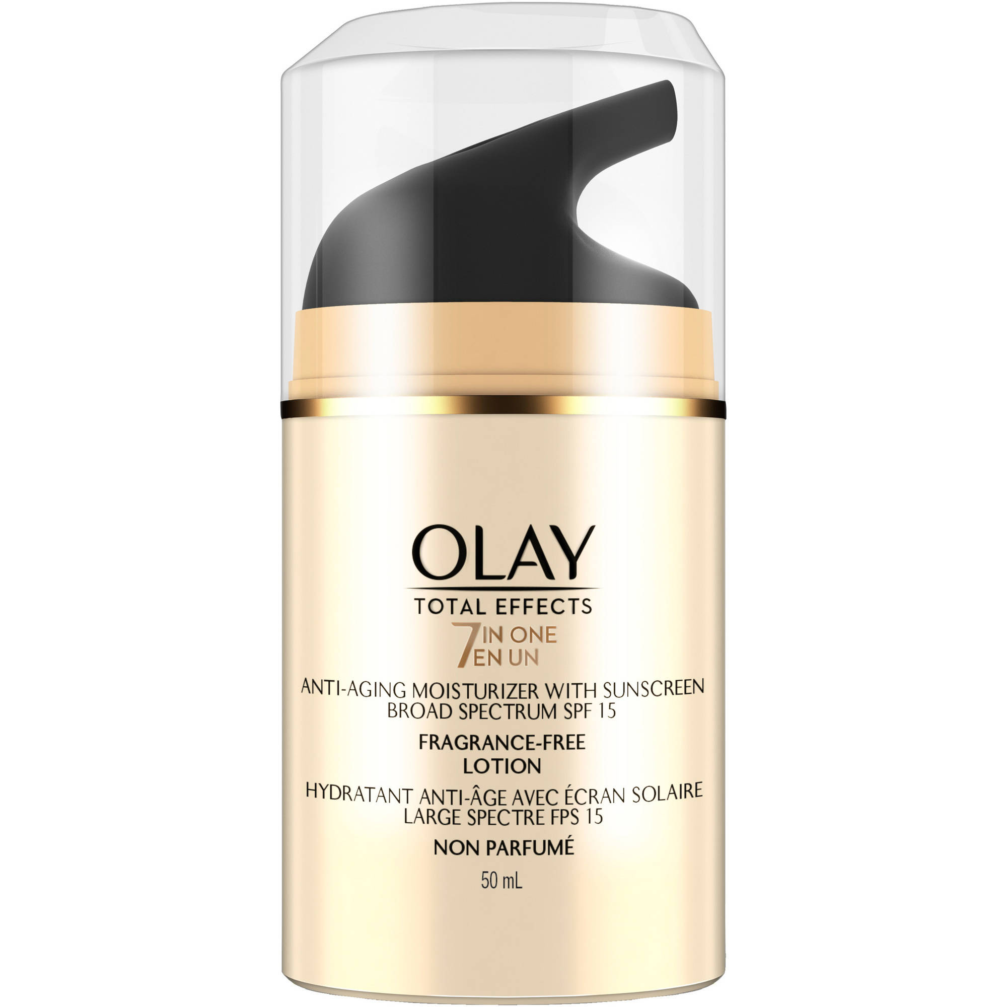 Olay Total Effects Fragrance Free Anti-Aging Moisturizer with Sunscreen, SPF 15, 1.7 fl oz