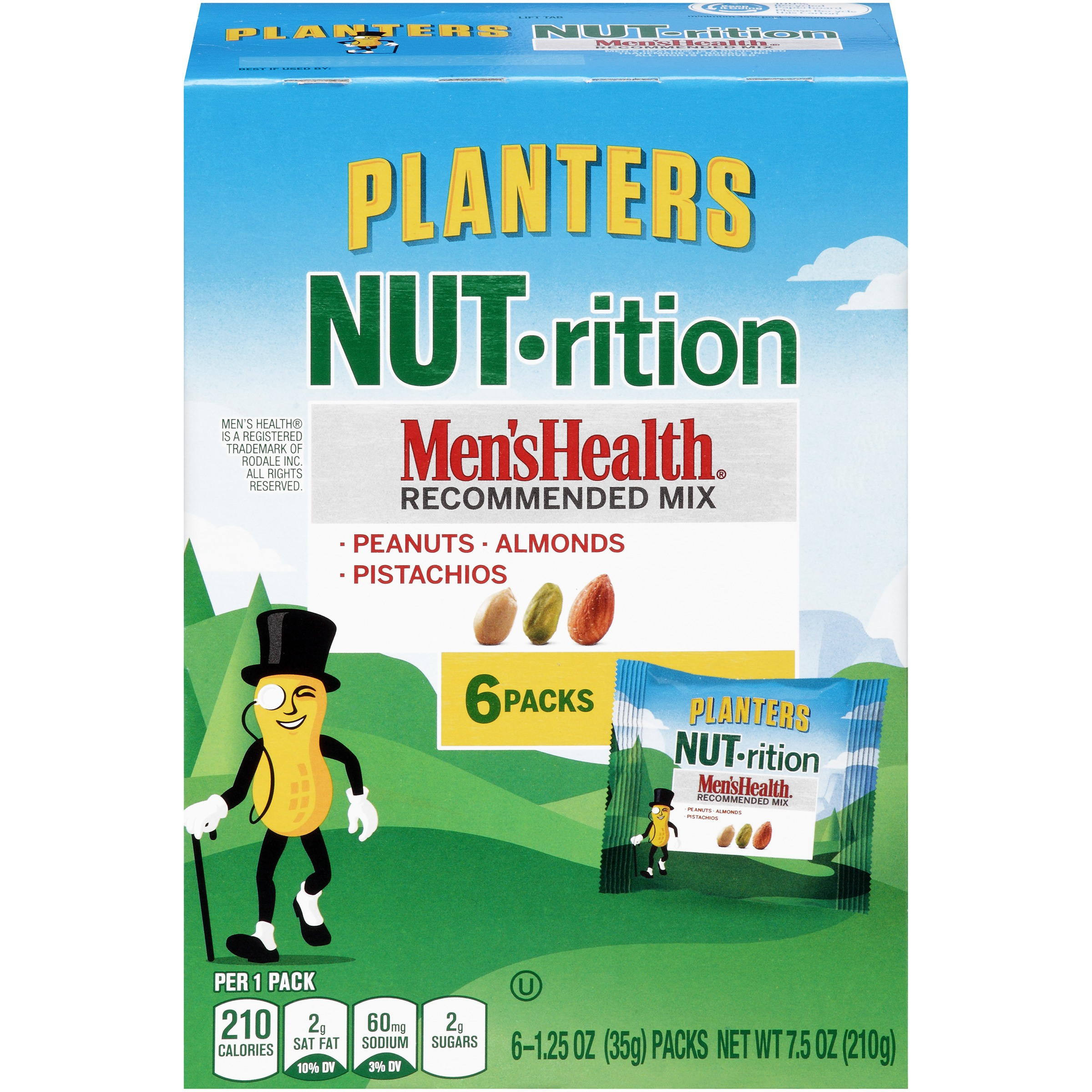 Planters NUT-rition Men's Health Recommended Mix 7 ct Box