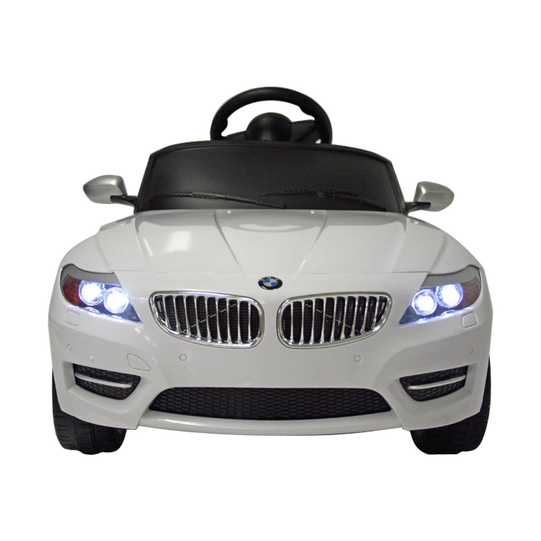 aosom bmw z4 6v kids electric riding toy car - walmart