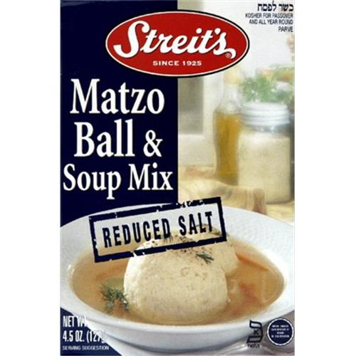 Streits Matzo Ball & Soup Mix, Low Sodium