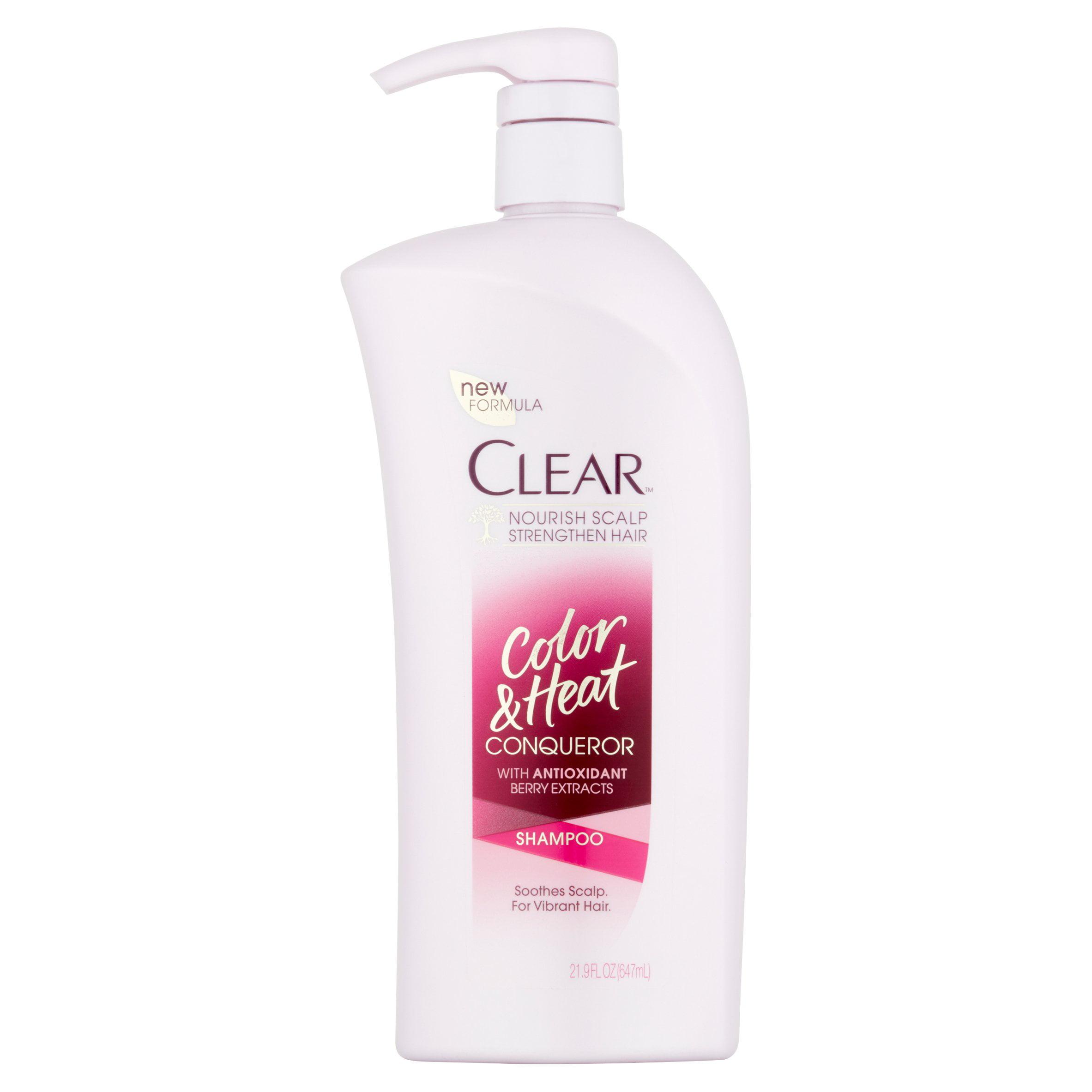 Clear Shampoo with Pump Color and Heat Conqueror 21.9 oz