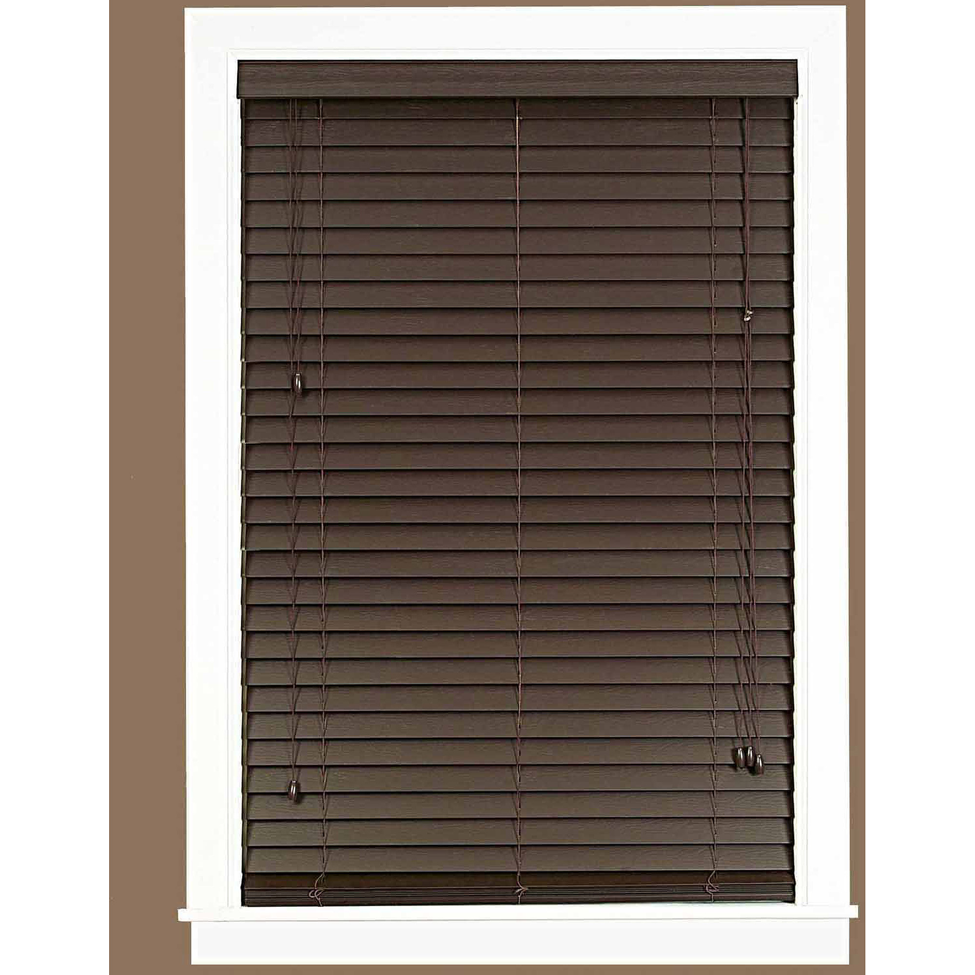 Bali 2 Room Darkening Faux Wood Blind White Available In Multiple Sizes Walmart Com