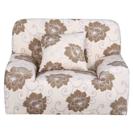 Home Polyester Flower Pattern Elastic Sofa Chair Cover