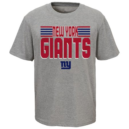 Youth Heathered Gray New York Giants Line T-Shirt