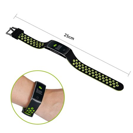 Fitness Tracker with Heart Rate Monitor Color Screen IP68 Waterproof Smart Bracelet Wristband Activity Tracker Pedometer Calorie Counter for Women Men Kids - image 6 of 9