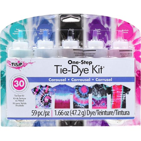 Tulip one-step tie-dye Kits Carousel, The dyes are permanent and color-fast, so they won't fade in the wash and since they're mixable, you can create your own custom.., By Tulip Onestep