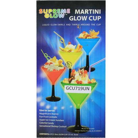 Martini Glow Glass (Set of 4) (Glow Martini Glass)