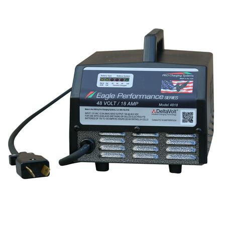 - Dual Pro® Club Car DS Golf Cart 36 Volt Charger - Crows Foot Plug