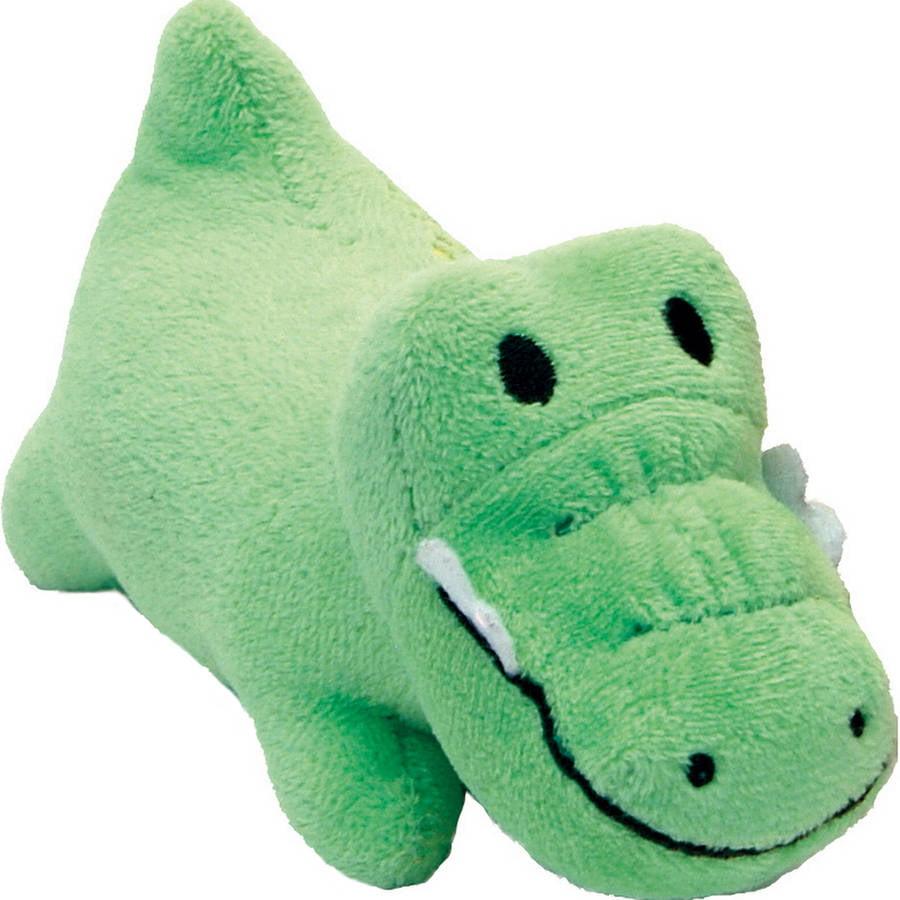 "Li'l Pals 4.5"" Plush Dog Toy-Gator - Green"