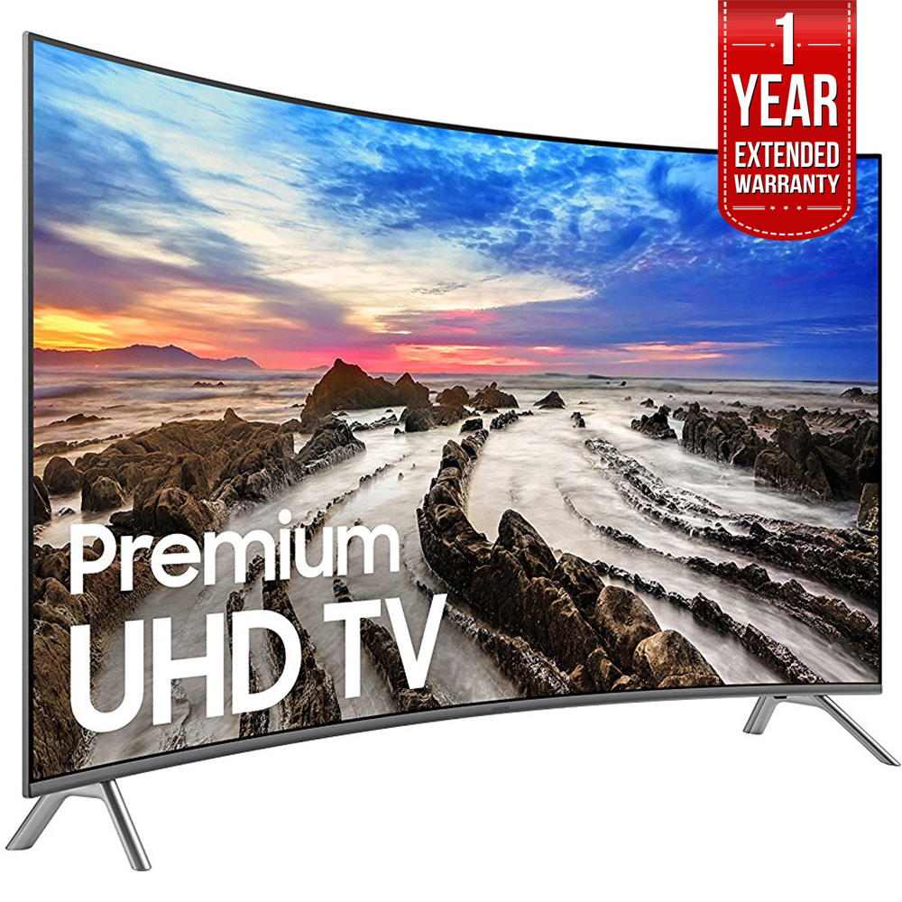"Samsung 64.5"" Curved 4K Ultra HD Smart LED TV 2017 Model UN65MU8500FXZA with 1 Year Extended Warranty"