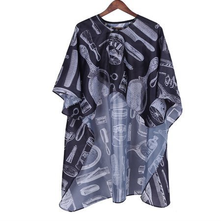WALFRONT Hairdressing Button Collar Gown, Hair Cutting Cape,Professional Salon Barber Hairdressing Hairdresser Hair Cutting Button Collar Gown Cape Cloth - image 4 of 8