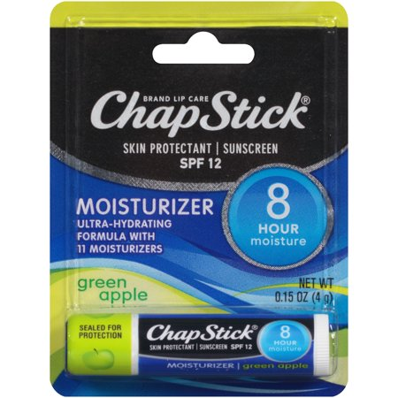 ChapStick® Moisturizer Green Apple SPF 12 Skin Protectant & Sunscreen 0.15 oz. Carded