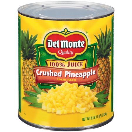 (Price/case)Del Monte 2001790 Crushed Pineapple In 100% Pineapple Juice Delmonte 6/107Oz Cans (Crushed Pineapple)