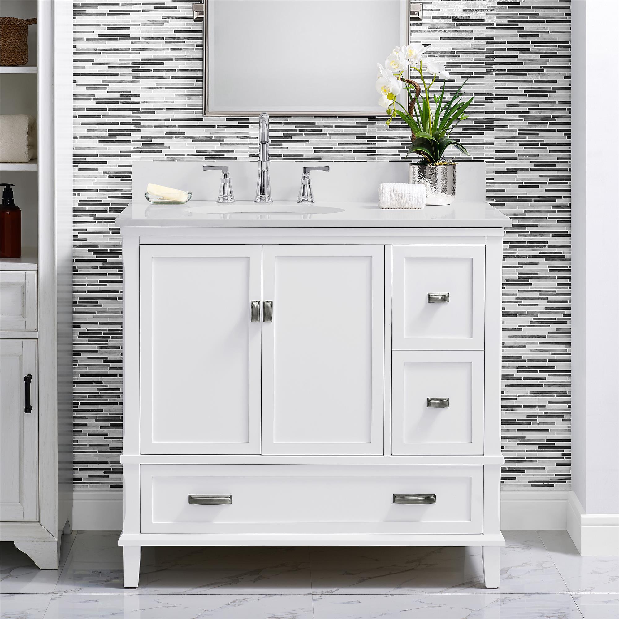 Dorel Living Otum 36 Inch Bathroom, White 36 Inch Bathroom Vanity