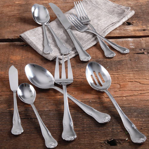 The Pioneer Woman Alex Marie 45-Piece Stainless Steel Flatware Set with Decorative Butterfly