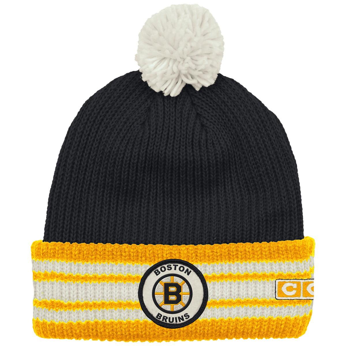 """Boston Bruins CCM NHL """"Watch"""" Cuffed Knit Hat with Pom by Reebok"""