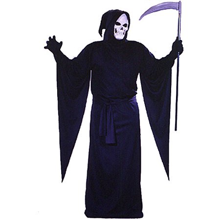 Grim Reaper Adult Robe Halloween Costume - Grim Reaper Halloween Fancy Dress