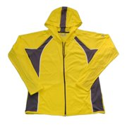 Under Armour Womens Medium Yellow with Grey Yoga Heatgear Zip Up Jacket NWOT
