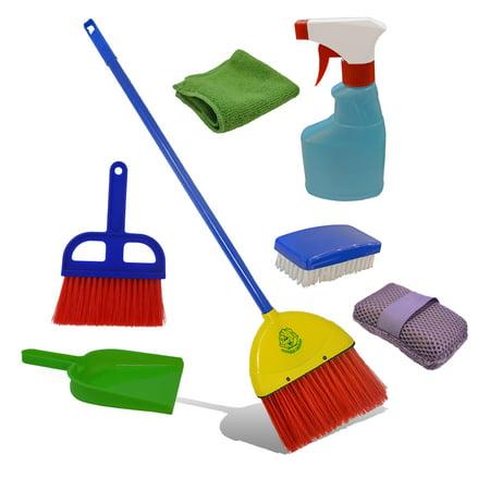 Childrens Cleaning Set Broom Dustpan Mini Sweeper