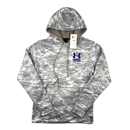 Mens Under Armour Hoodie UA Coldgear Grey Camo Pullover Lightweight S M L XL (Camo Hoodies Under Armour)