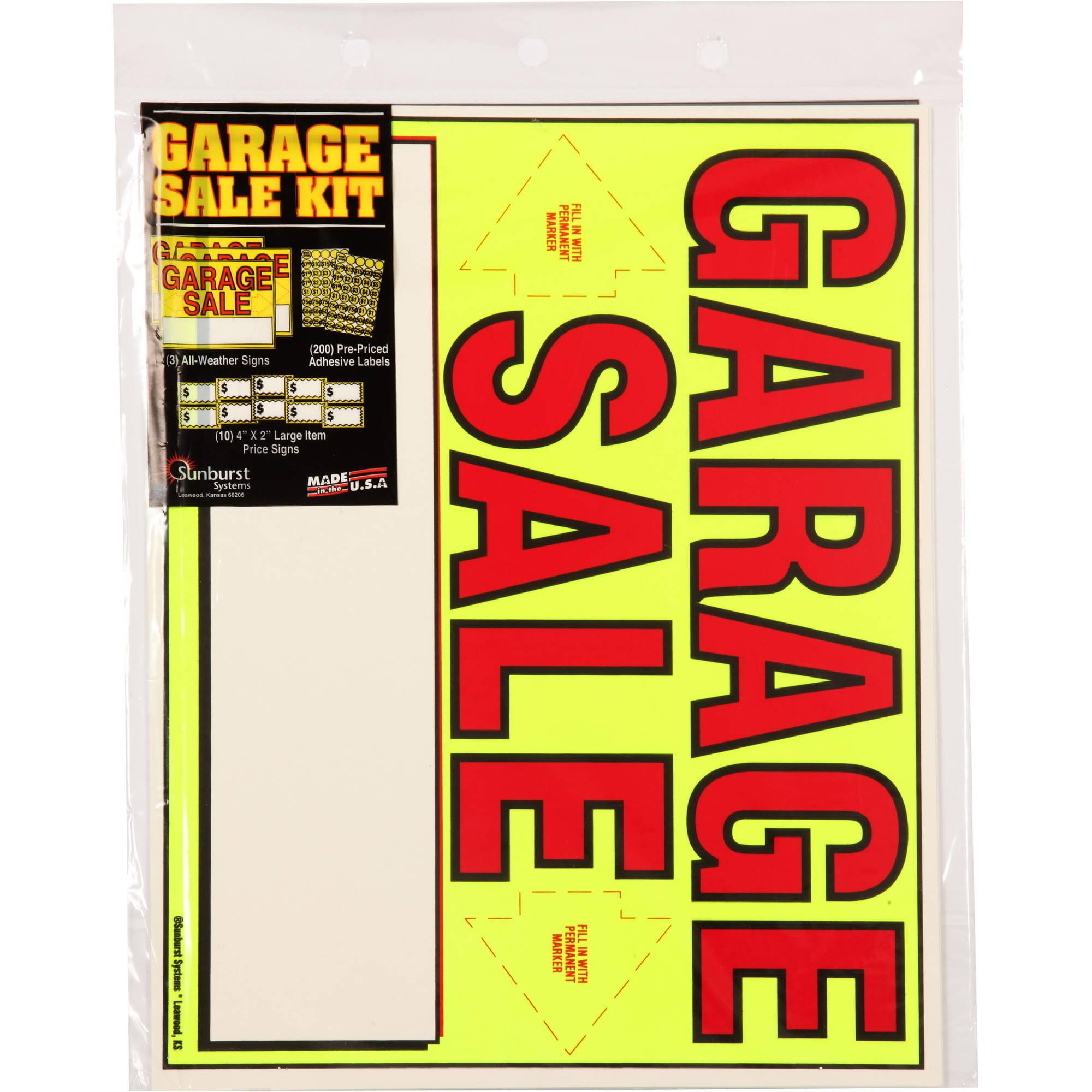 Sunburst Systems Garage Sale Kit