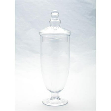 Diamond Star 83198 Apothecary Glass Jar with Lid, Clear