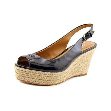 df0703bfa Coach - Coach Womens Ferry Snake Peep Toe Special Occasion, Black Patent,  Size 7.0 - Walmart.com