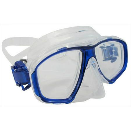 Scuba Blue Dive Mask NEARSIGHTED Prescription RX Optical Lenses (-4.0)