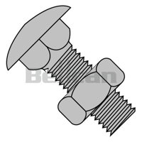 Shorpioen 6272C 0.62-11 x 4.5 Fully Threaded Carriage Bolt - Zinc - Box of 50