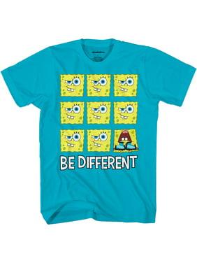 Spongebob Squarepants Boys Be Different Graphic T-Shirt, Sizes 4-18